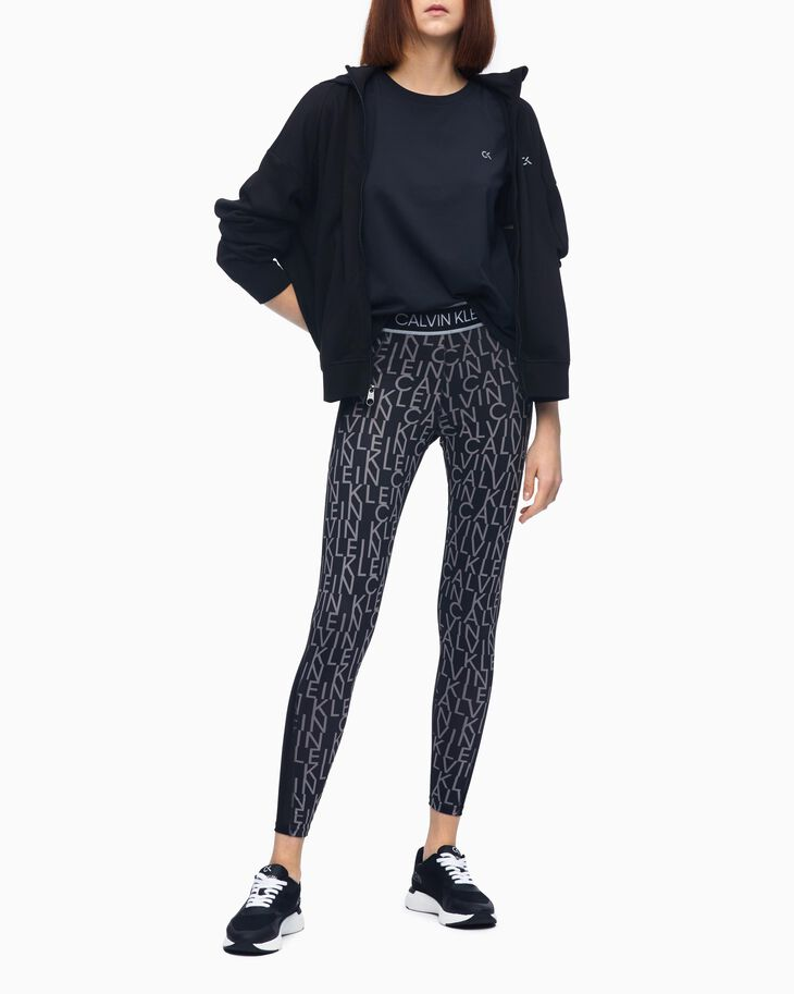 CALVIN KLEIN ACTIVE ICON FULL LENGTH ALL-OVER PRINT レギンス