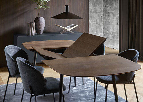Designer Extendable Dining Tables, Dining Room Sets With Expandable Table