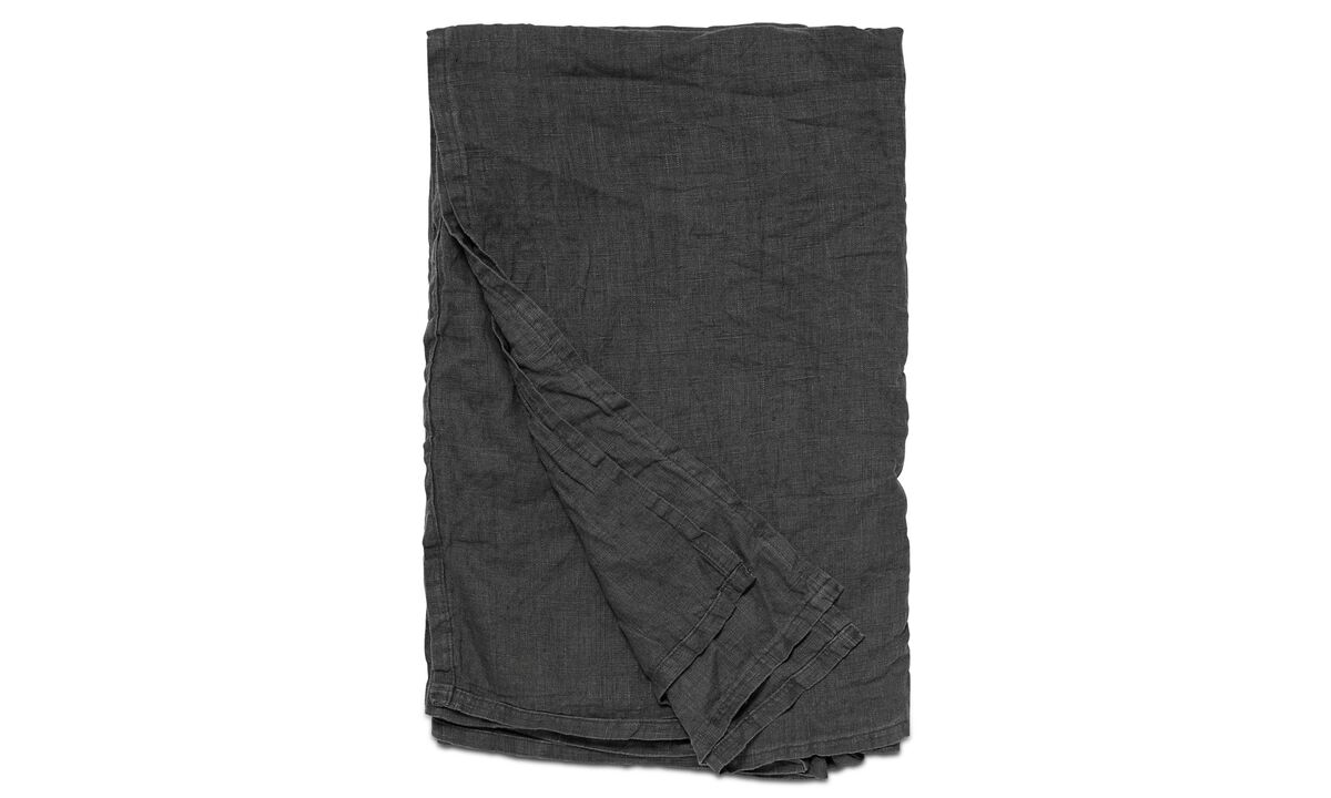 Ριχτάρια & καλύμματα κρεβατιών - κάλυμμα κρεβατιού Linen - Γκρι - Ύφασμα