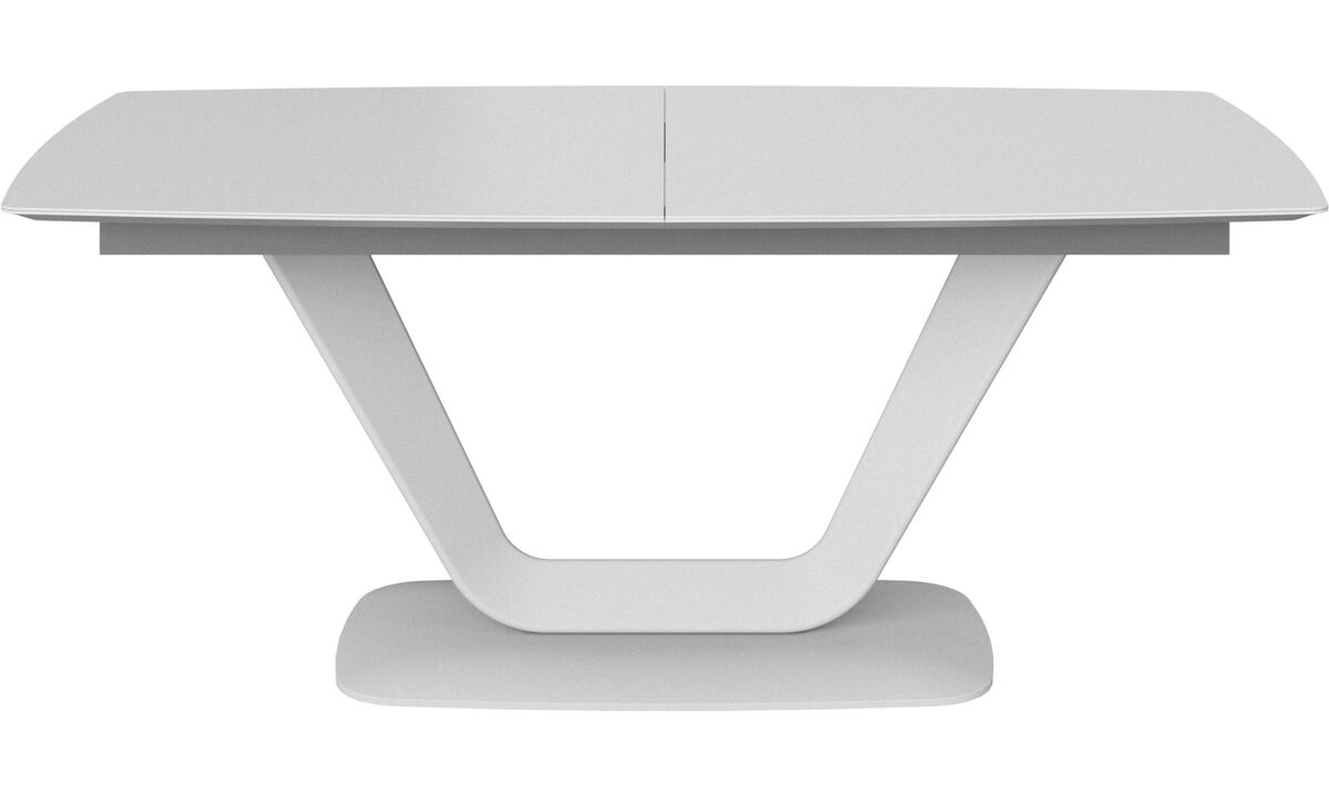 Extendable dining tables - Alicante table with supplementary tabletop - rectangular - White - Lacquered