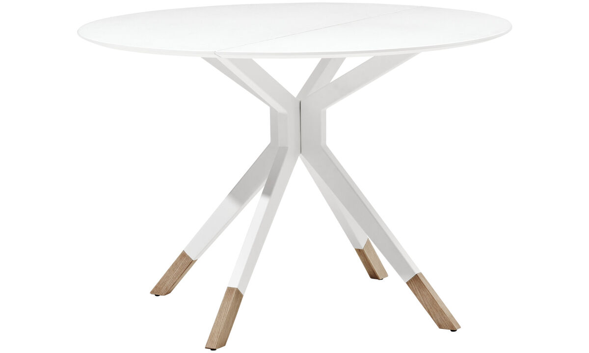 Extendable dining tables - Billund table - round - White - Lacquered