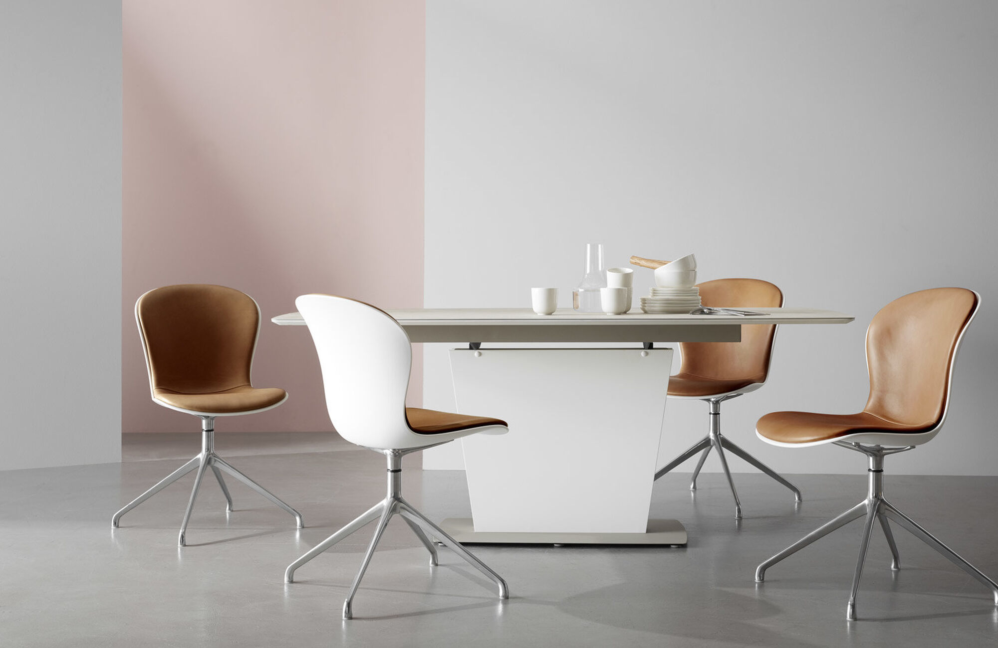 Extendable dining tables - Milano table with supplementary tabletop