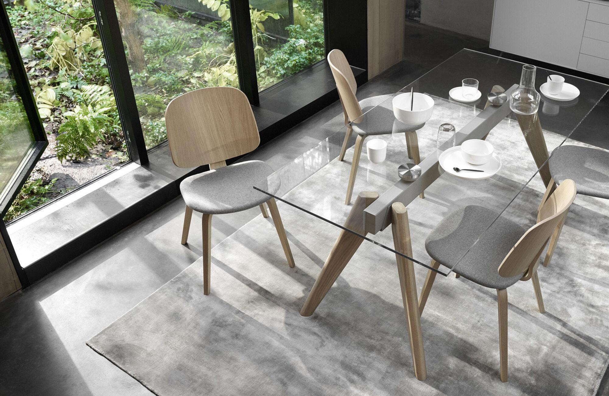 Mesas de comedor - Mesa extensible Monza con tableros suplementarios
