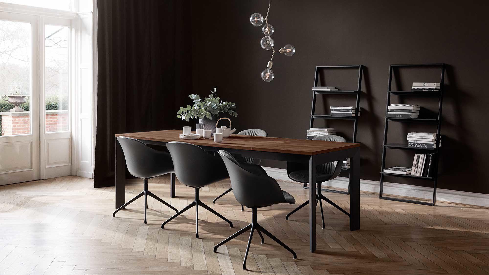 Rozkladacie jedálenské stoly - Rozkladací jedálenský stôl Lyon s prídavnou stolovou doskou