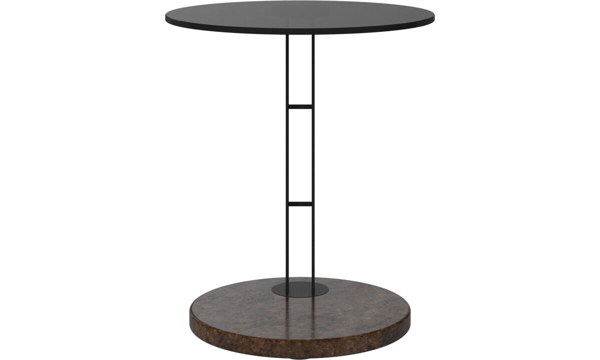 Small furniture - Venezia side table - round - Brown - Glass