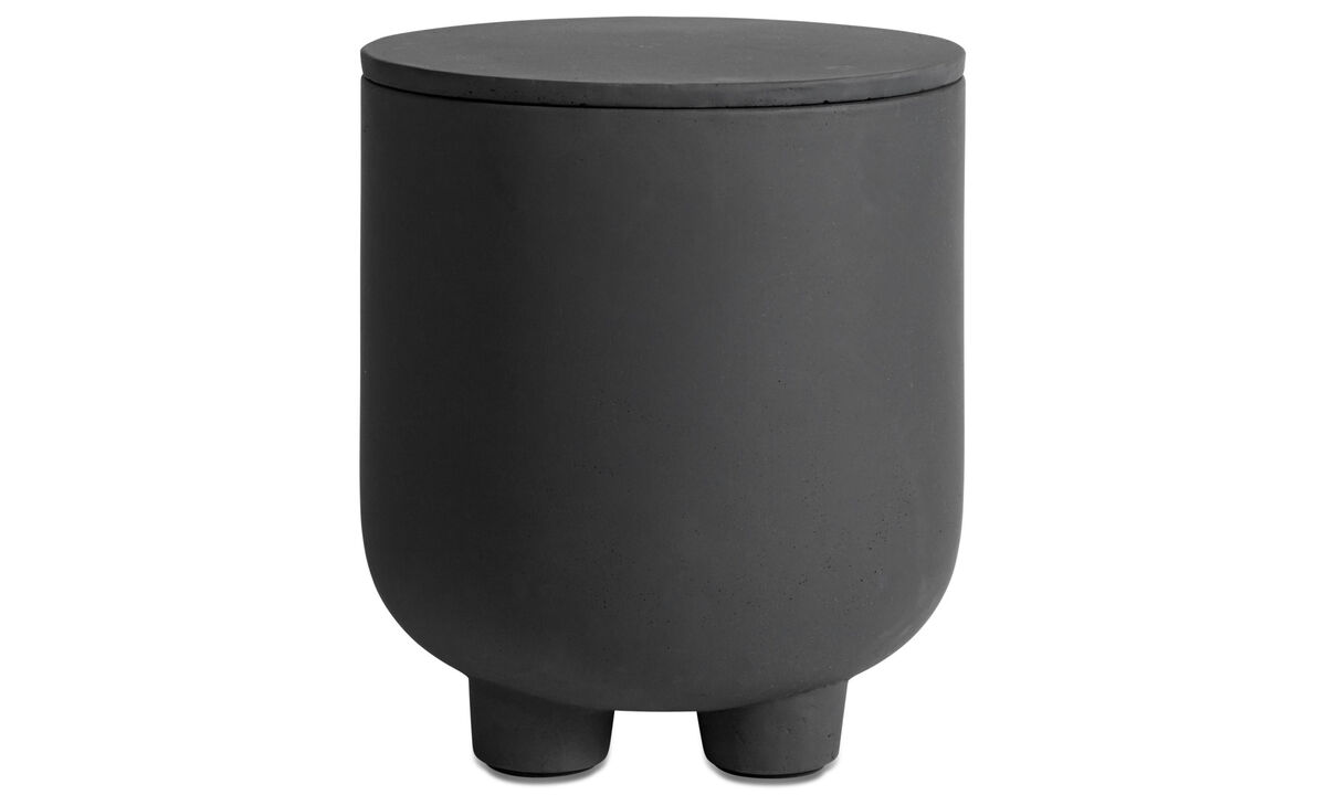 Flowerpots - Exterior outdoor stool - Grey - Fibre cement