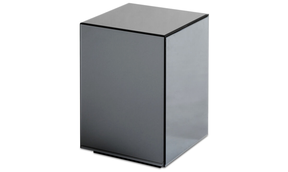 Small furniture - Block mirror table - square - Grey - Glass