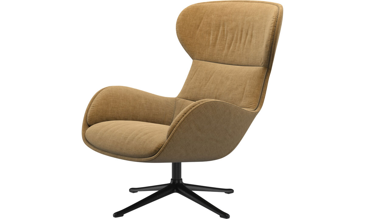 Armchairs - Reno chair with swivel function - Beige - Fabric