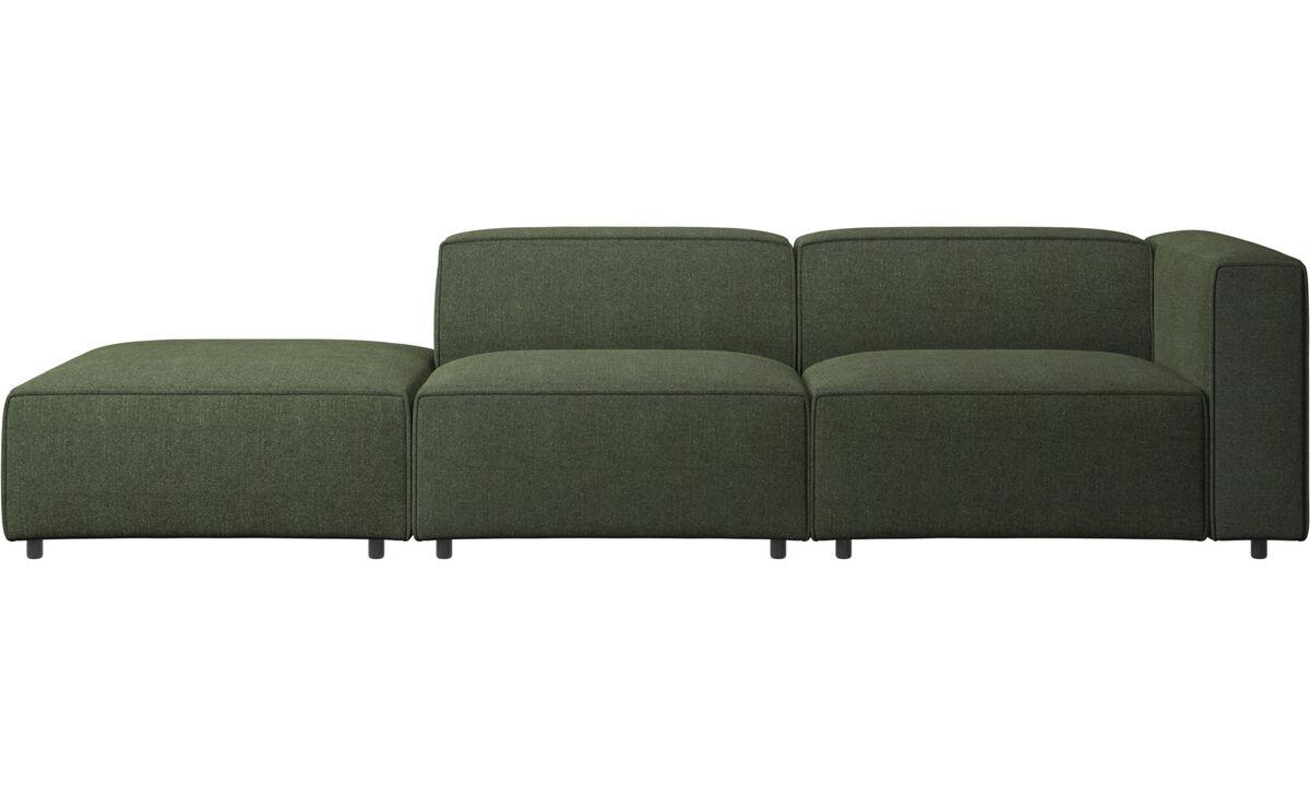 Модульные диваны - Диван Carmo с модулем для отдыха - Зеленый - Tкань