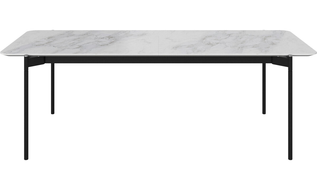 Extendable dining tables - Augusta table with supplementary tabletop - rectangular - White - Ceramic