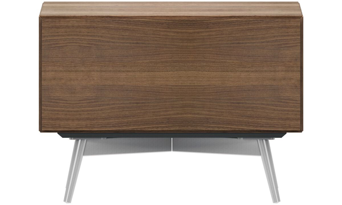 Bedside Tables - Lugano night stand - rectangular - Brown - Walnut