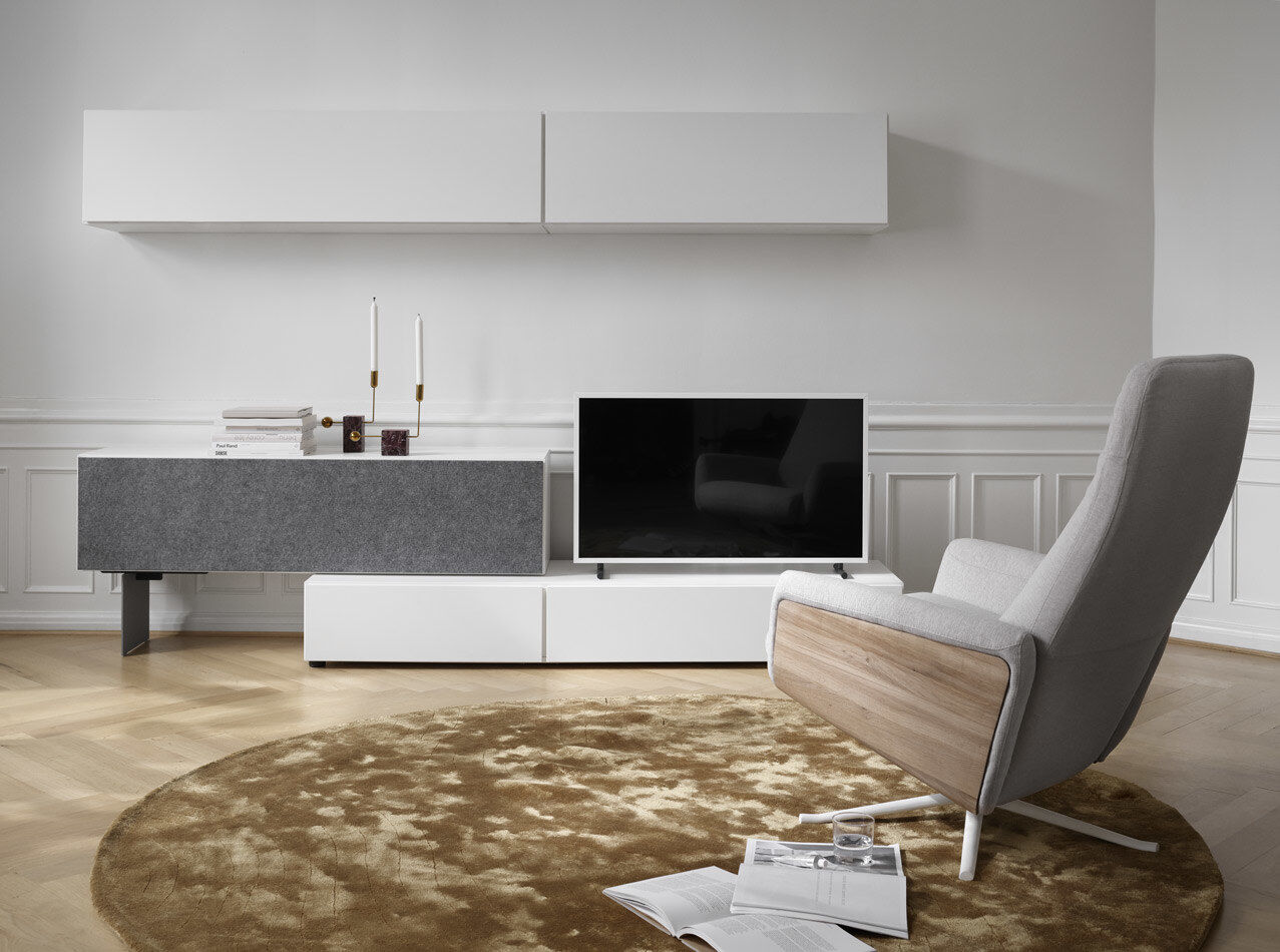 Tv units - Lugano base cabinet with drawers and drop down doors