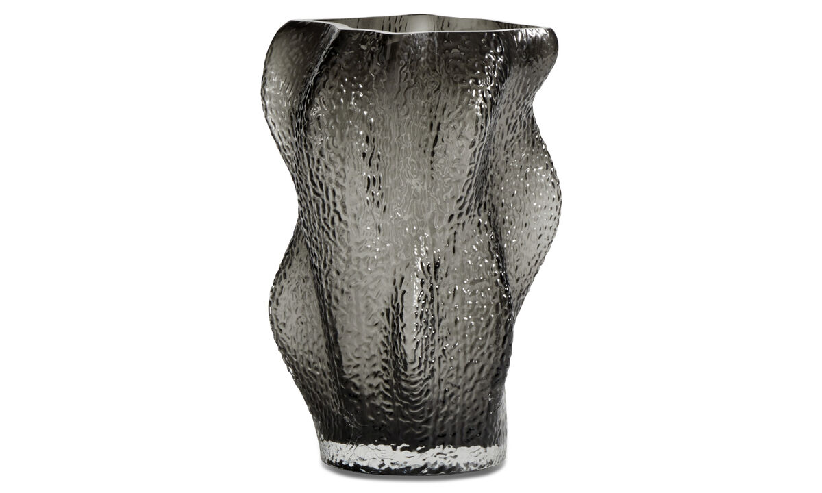 Vaser - Water ripple vase - Grå - Glass
