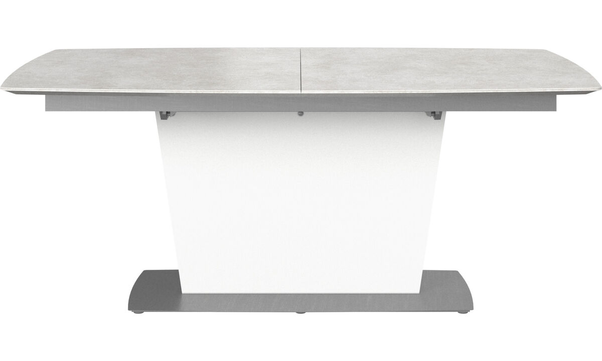 Extendable dining tables - Milano table with supplementary tabletop - rectangular - Grey - Ceramic