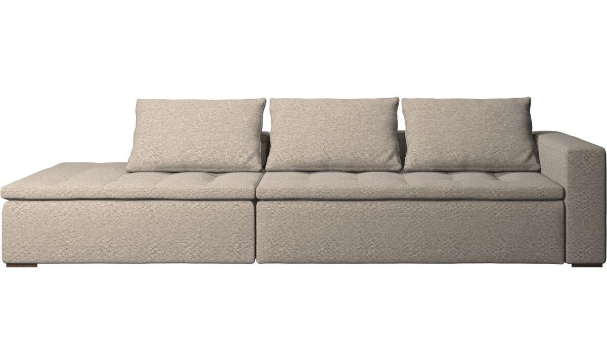 Moderne Beige, Roten Walnuss Designer Lounge Sofas - BoConcept