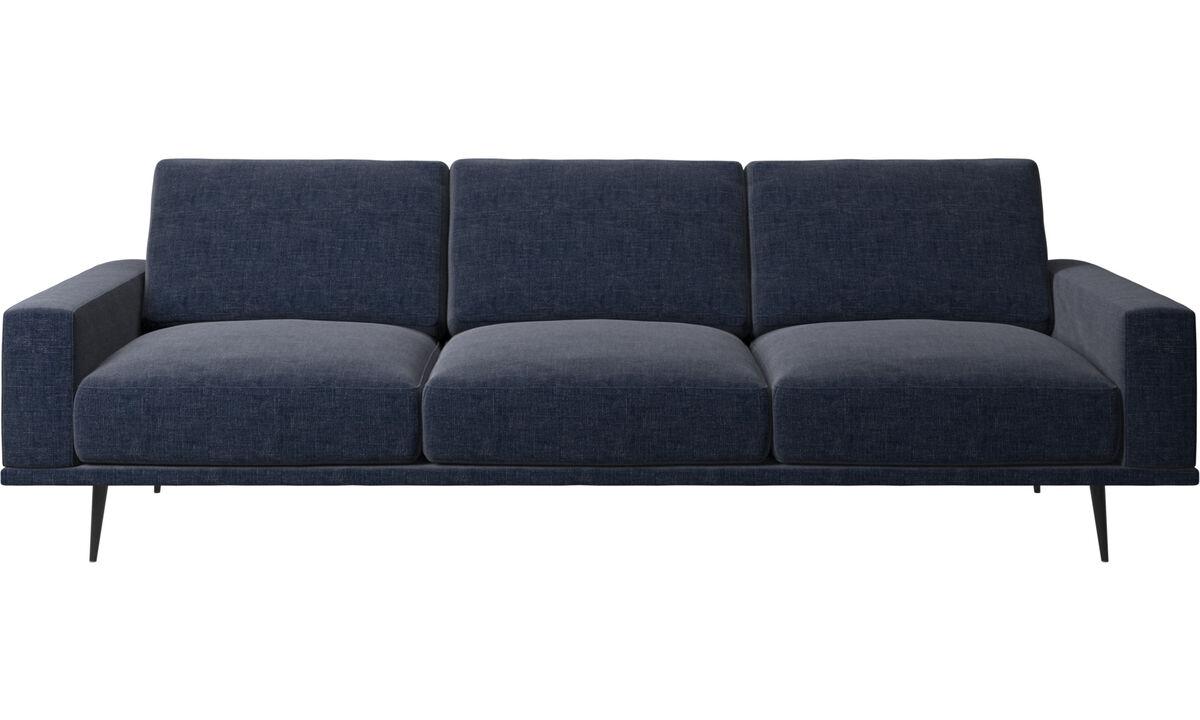 Трехместные диваны - Диван Carlton - Синего цвета - Tкань