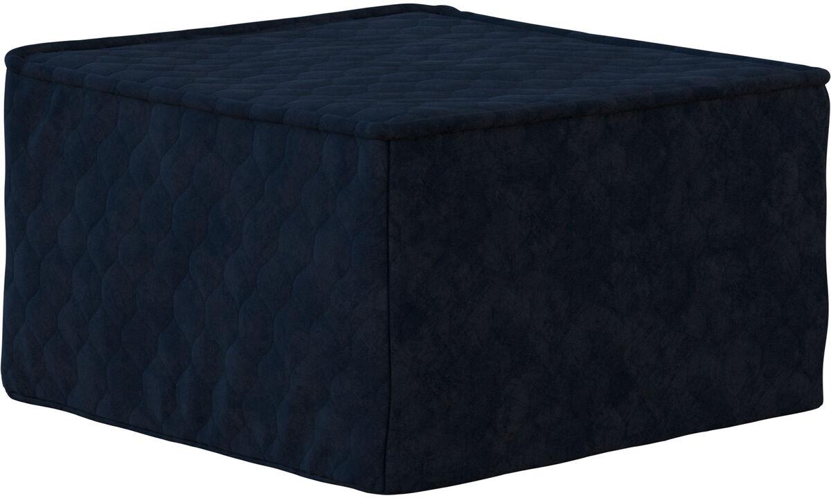 Диваны-кровати - Пуф Xtra с функцией сна - Синего цвета - Tкань