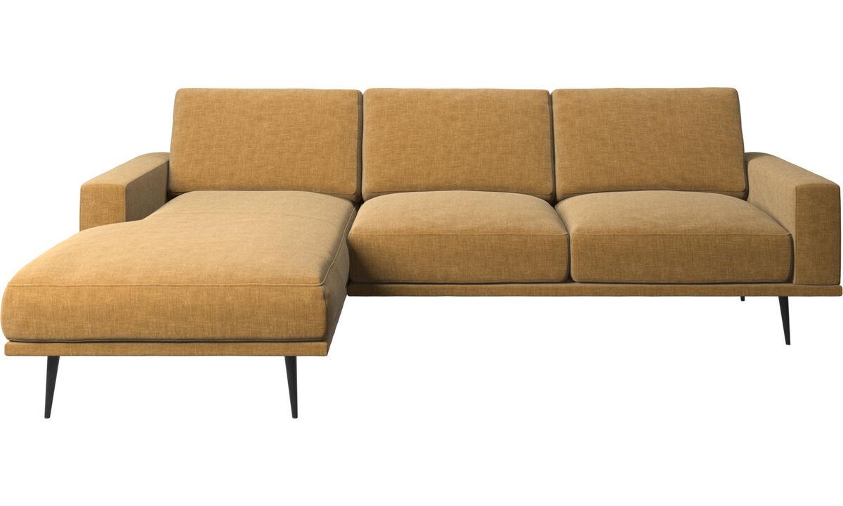 Диваны с козеткой - Диван Carlton с модулем для отдыха - Бежевого цвета - Tкань