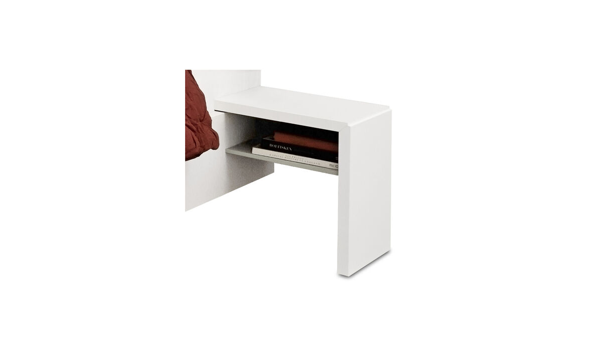 Bedside Tables - Lugano night stand - rectangular - White - Lacquered
