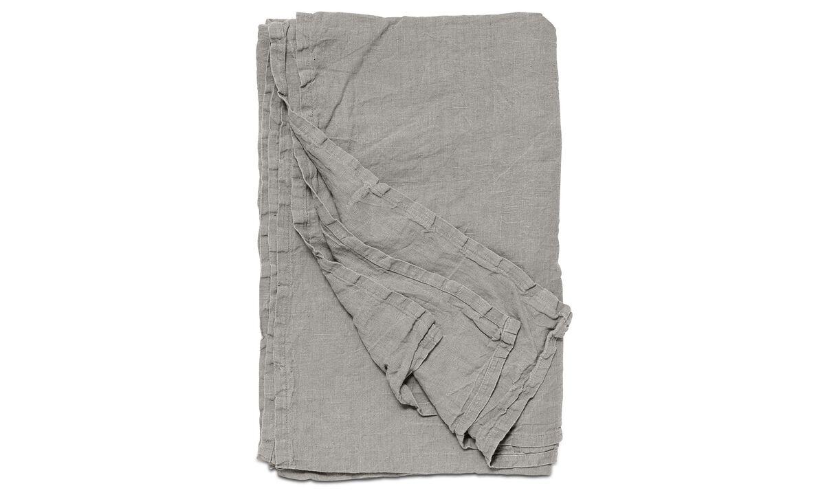 Ριχτάρια & καλύμματα κρεβατιών - κάλυμμα κρεβατιού Linen - Καφέ - Ύφασμα