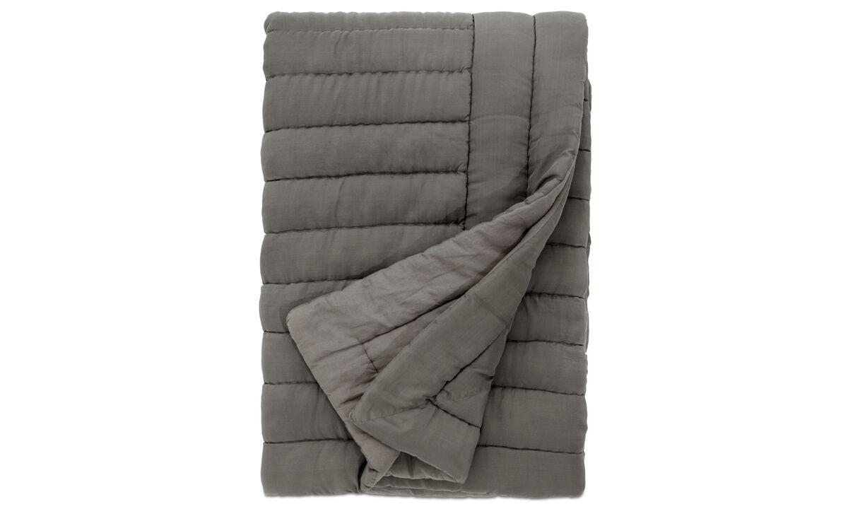 Ριχτάρια & καλύμματα κρεβατιών - κάλυμμα κρεβατιού Indulge - Γκρι - Ύφασμα