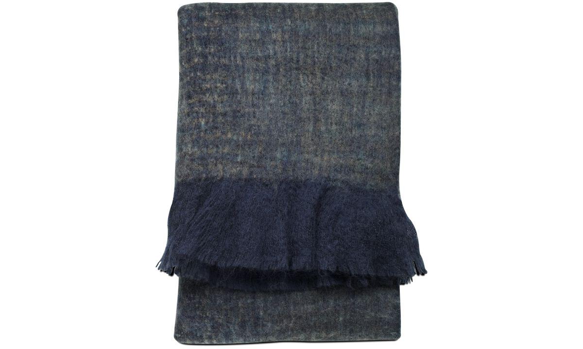 Ριχτάρια & καλύμματα κρεβατιών - Ριχτάρι Knit - Μπλε - Ύφασμα