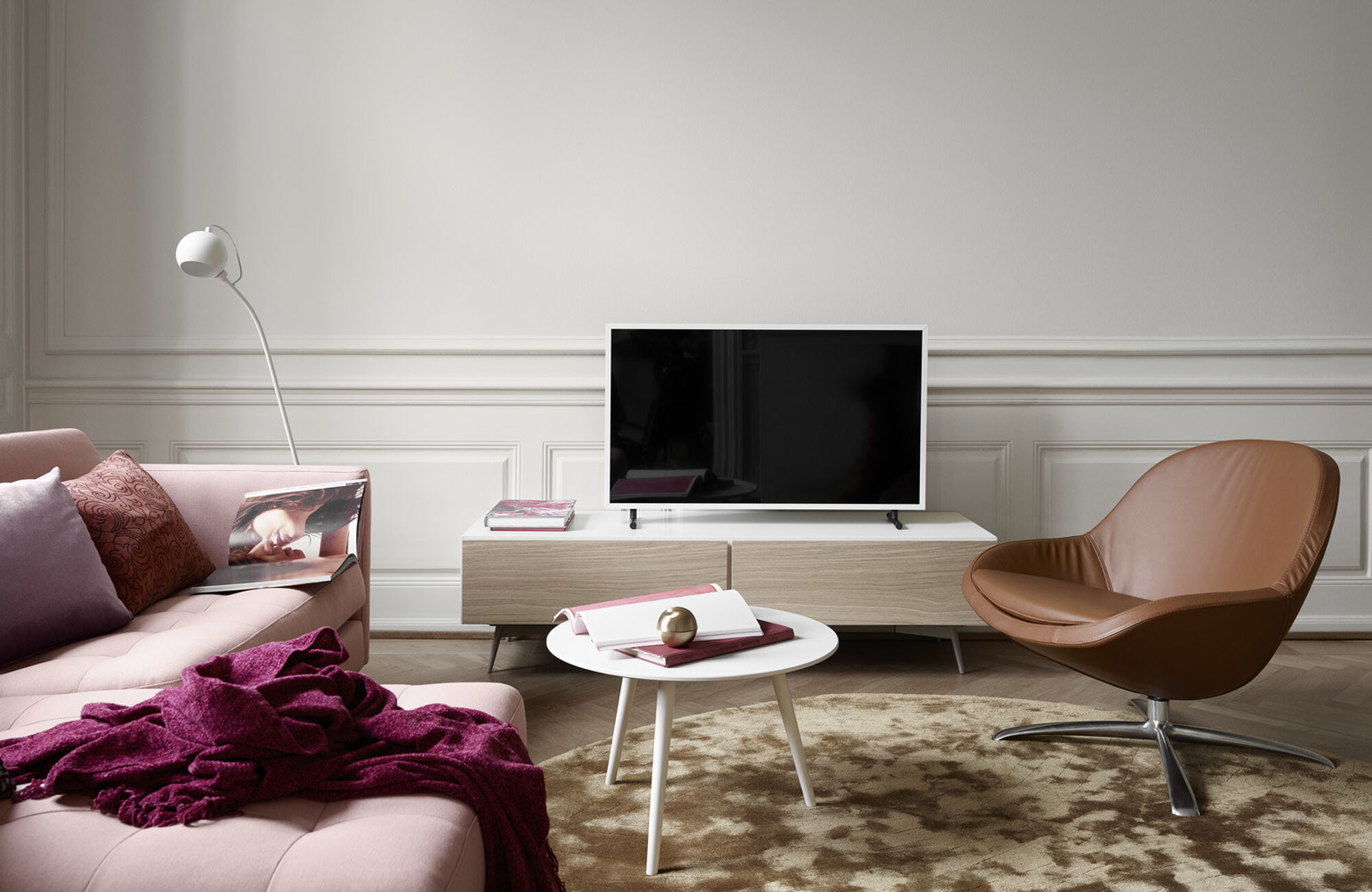 Tv units - Lugano media unit with drop down door