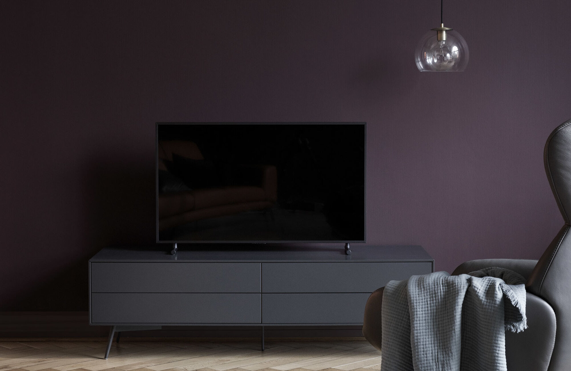 Tv units - Fermo media unit with drop down door and drawer