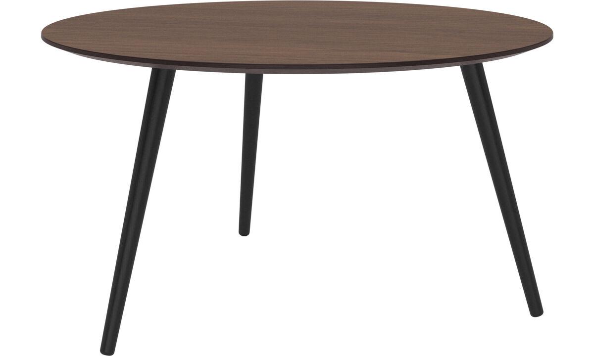 Night stands - Bornholm coffee table - round - Brown - Walnut
