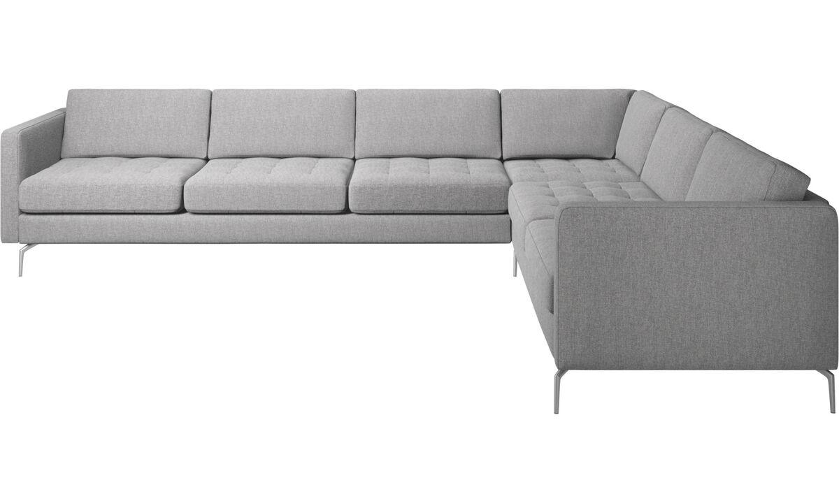 Угловые диваны - Угловой диван Osaka - Серого цвета - Tкань