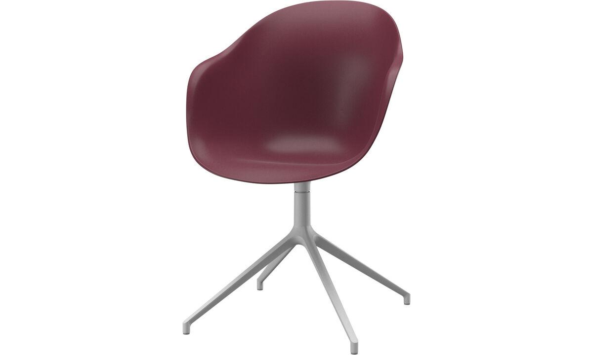 Modern Red Plastic Designer Dining Chairs Boconcept