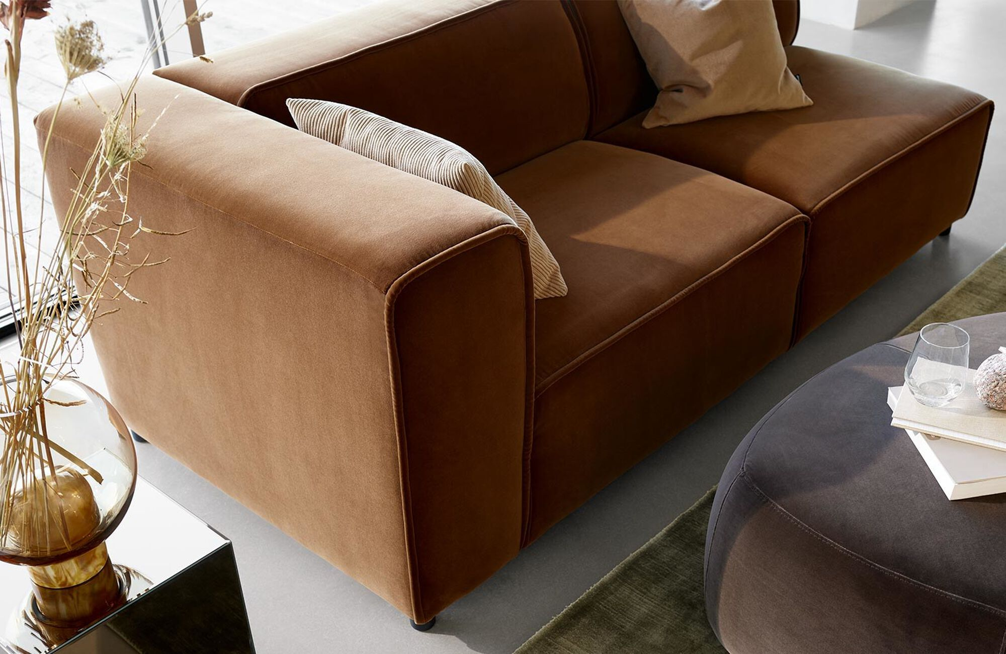 Modular sofas - Carmo sofa with lounging and resting unit