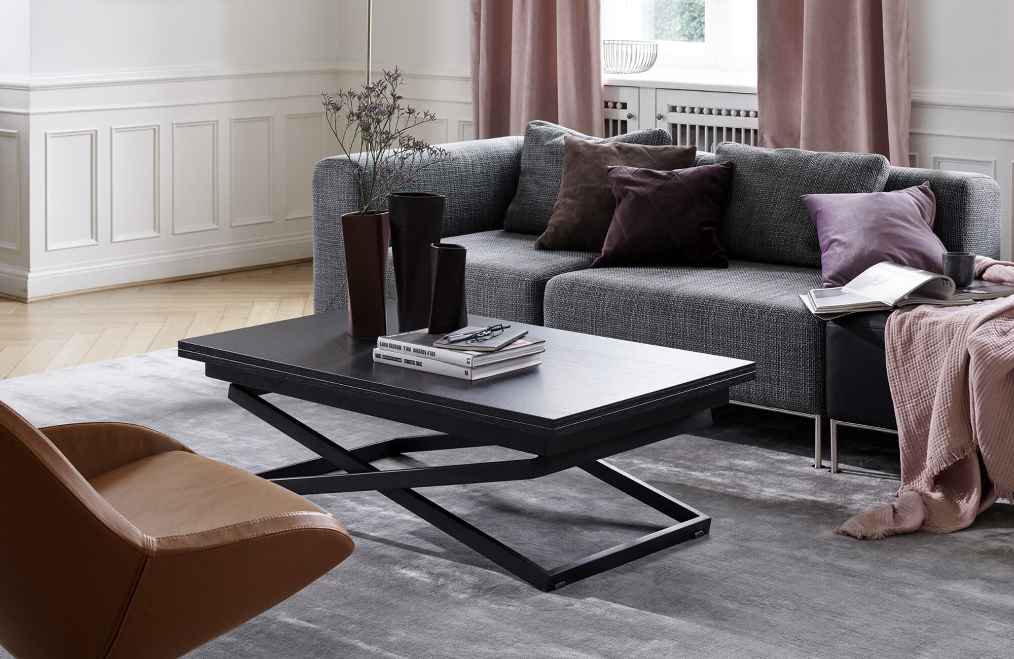 Coffee tables - Rubi adjustable table (height and size can be adjusted)