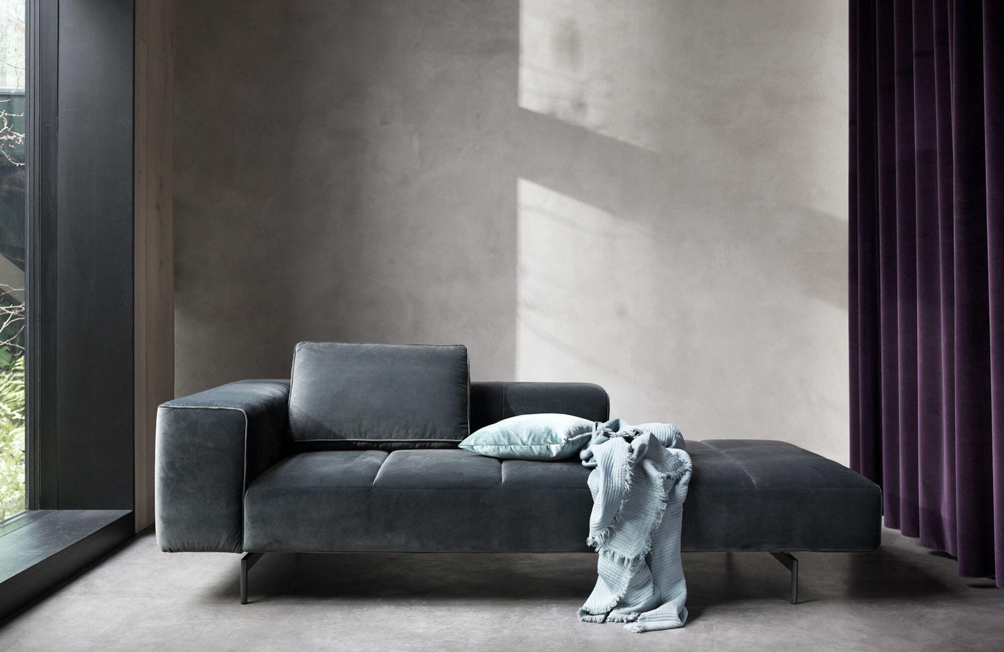 Modular sofas - Amsterdam sofa with footstool on left side