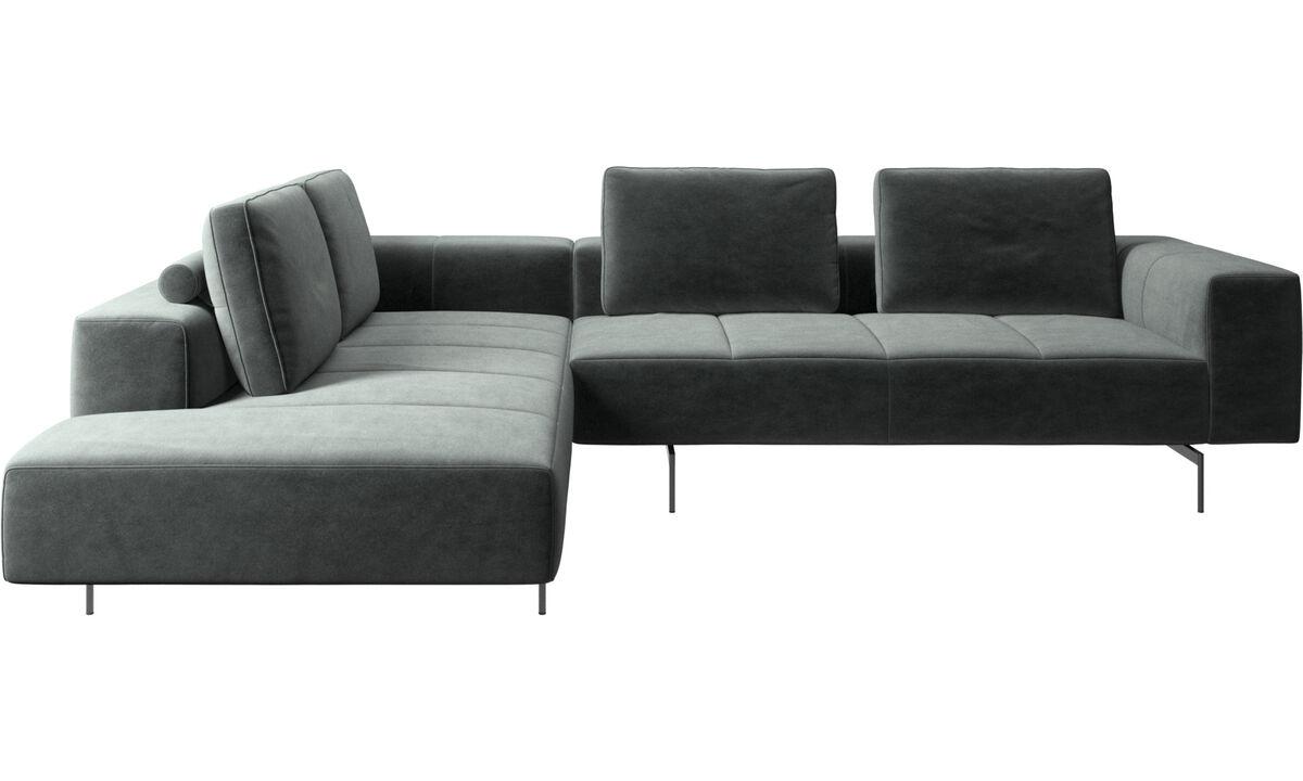Модульные диваны - Угловой диван Amsterdam с модулем для отдыха - Зеленый - Tкань