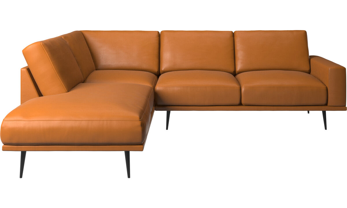 Диваны без подлокотников - Диван Carlton с модулями для отдыха - Коричневого цвета - Кожа