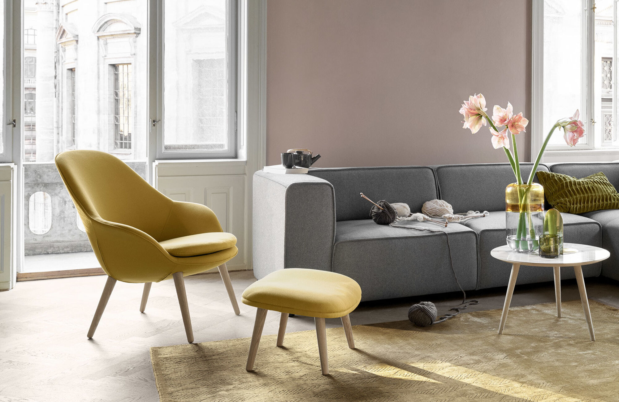 Dusty rose - Adelaide living chair