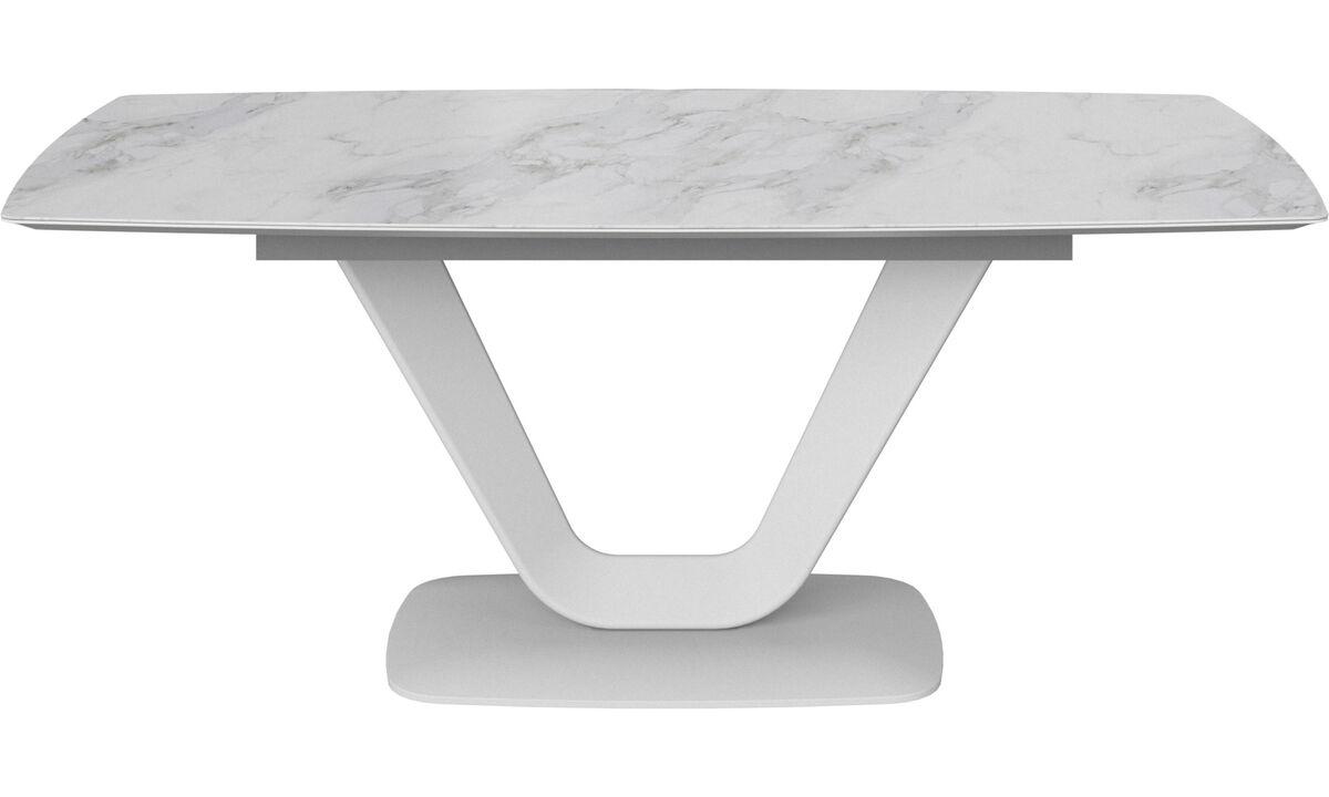Modern White Ceramic Designer Extendable Dining Tables Boconcept