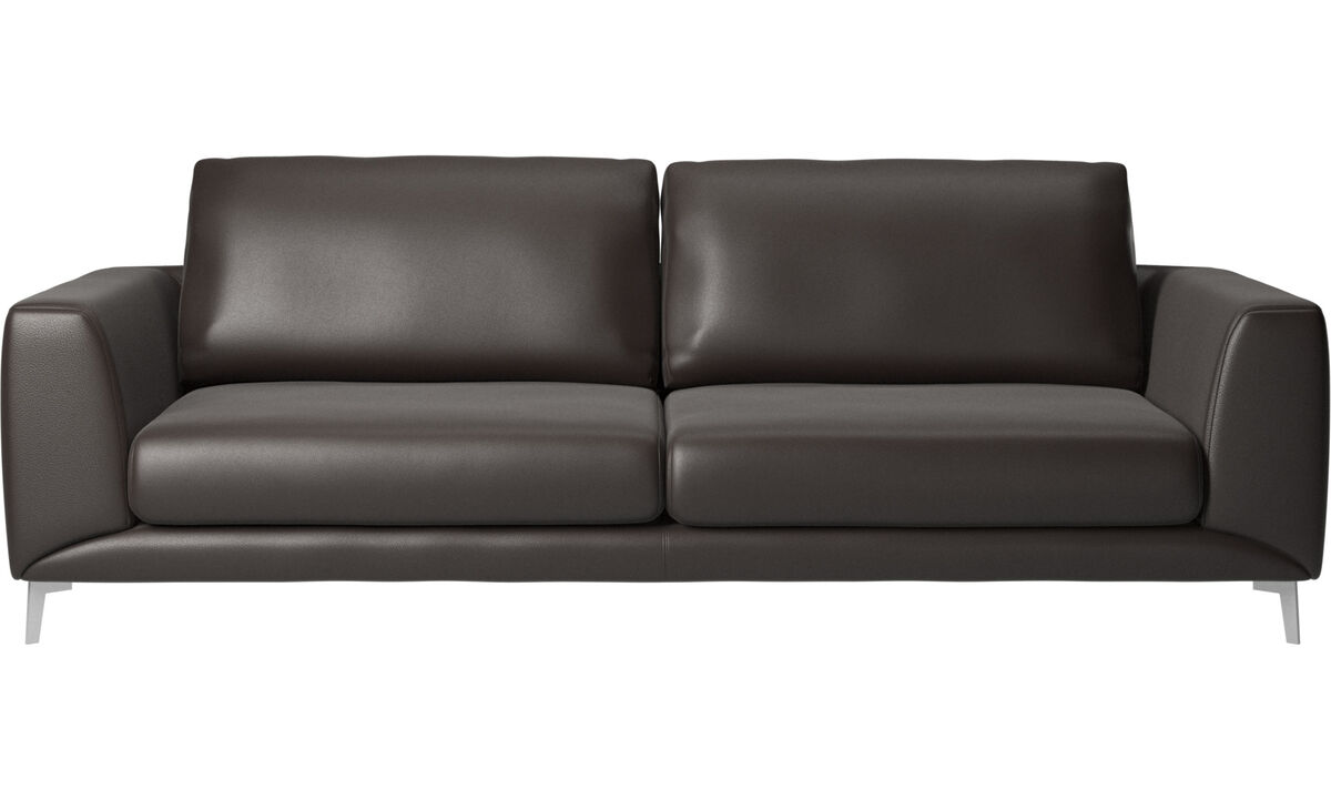 3 seater sofas - Fargo sofa - Brown - Leather