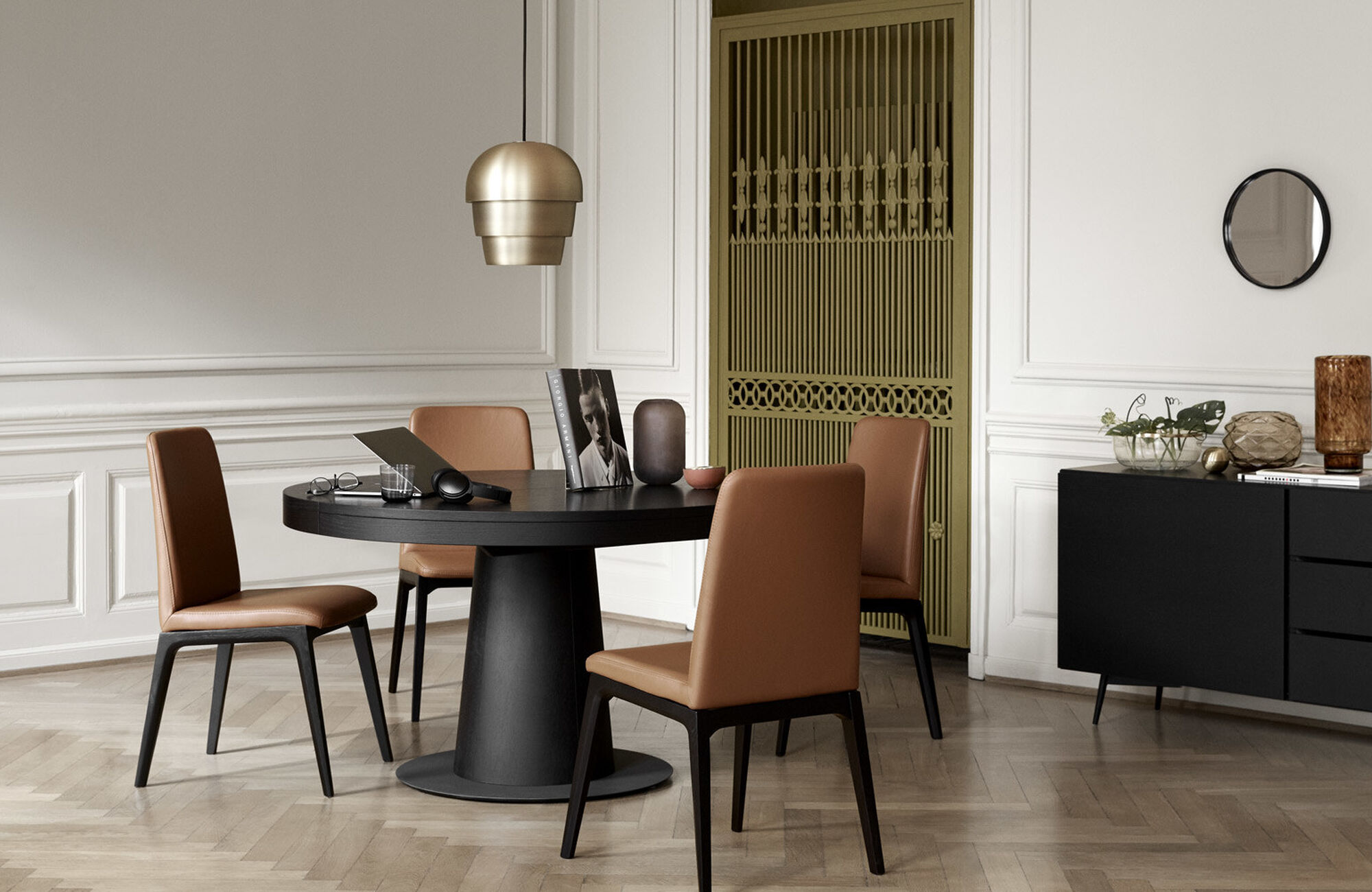 Extendable dining tables - Granada table with supplementary tabletop
