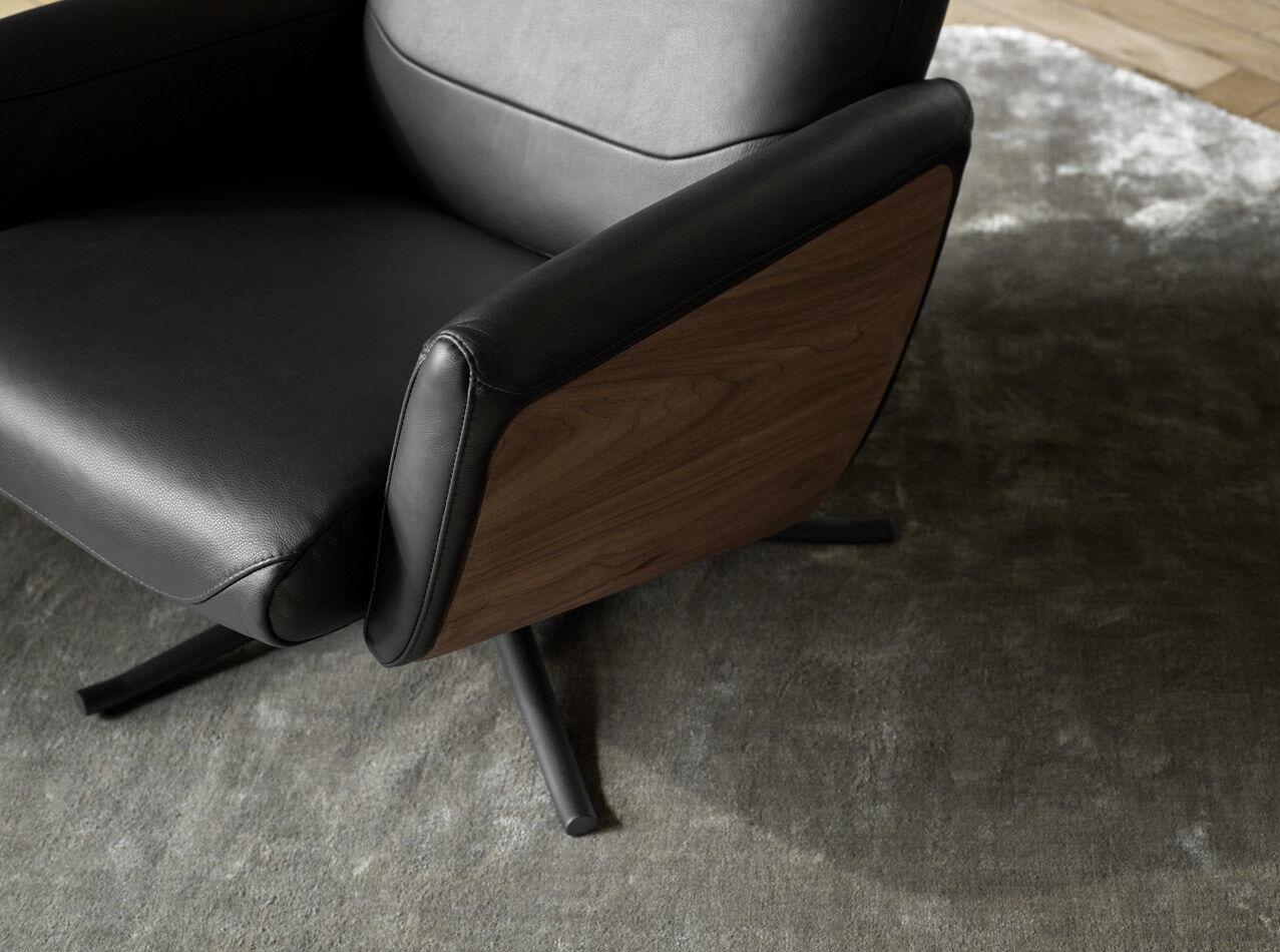 Butacas reclinables - Butaca reclinable Lucca con función giratoria