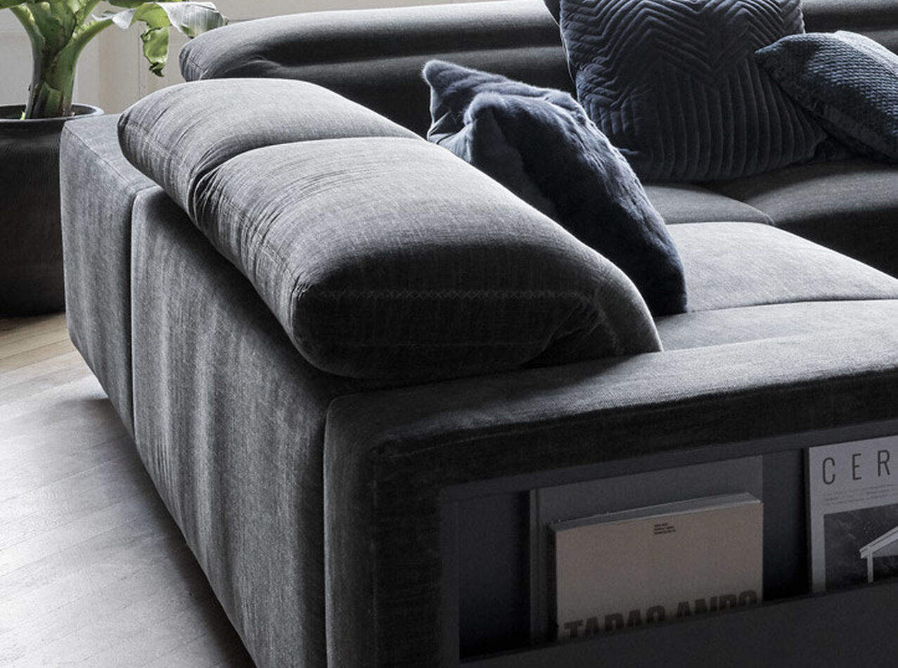 3 seater sofas - Hampton corner sofa with adjustable back and storage on right side