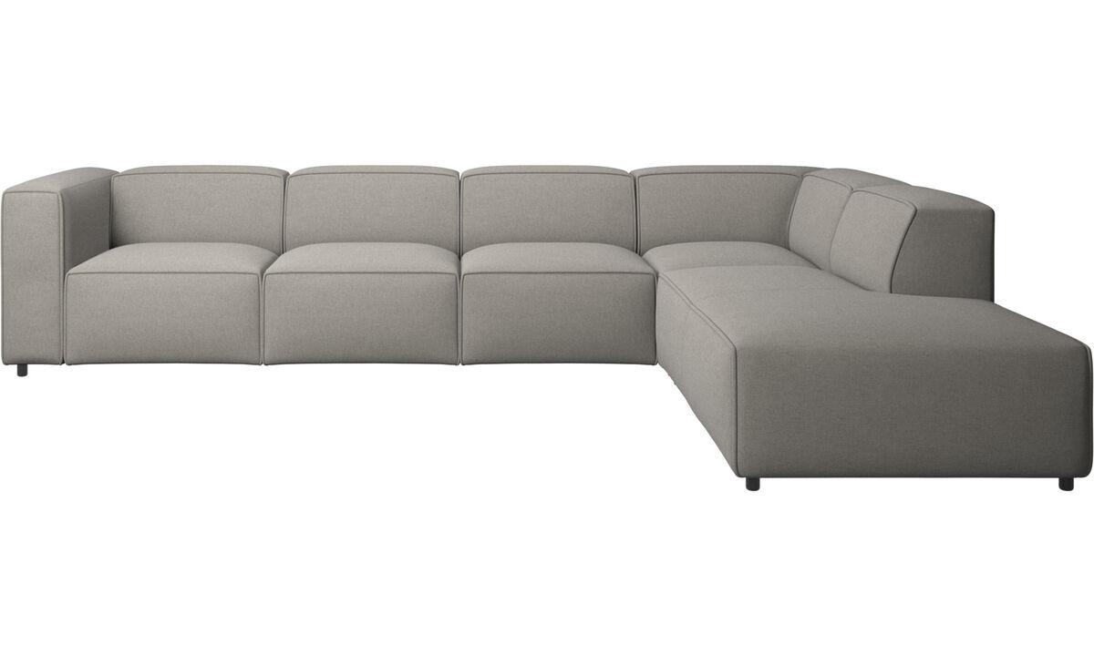 Модульные диваны - Угловой диван Carmo с модулем для отдыха - Серого цвета - Tкань