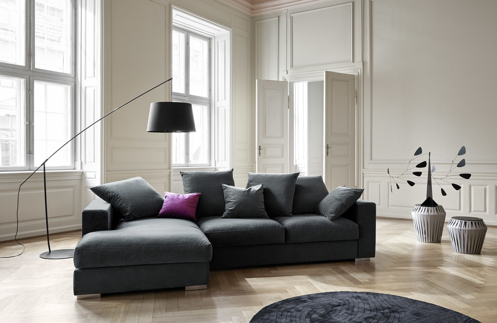 Sofas with open end - Cenova sofa with lounging unit