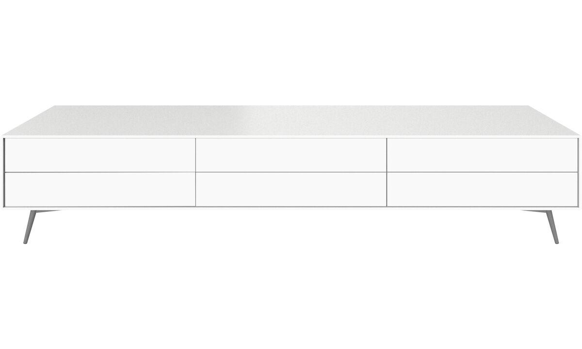 Mediabänkar - Fermo TV-/mediamöbel - Vit - Lack