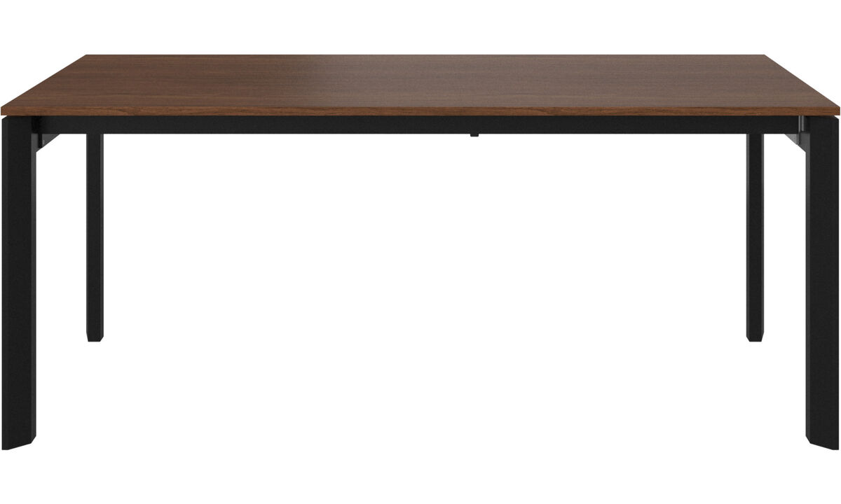 Extendable dining tables - Lyon table with supplementary tabletop - rectangular - Brown - Walnut
